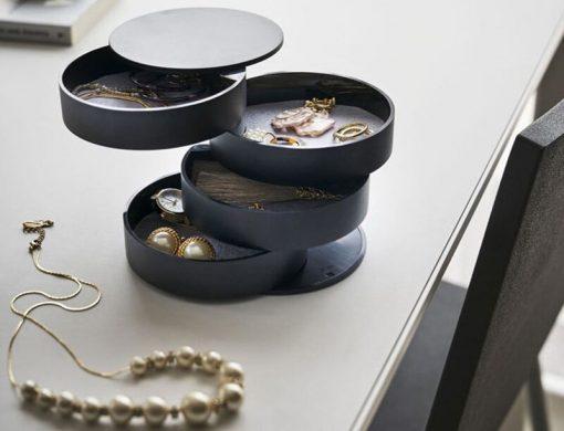 boite de rangement bijoux rotative