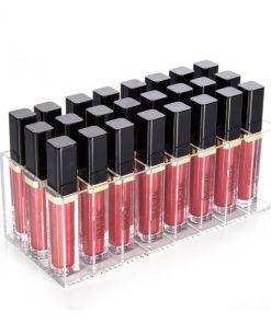 Boite casiers rangement rouge à lèvres