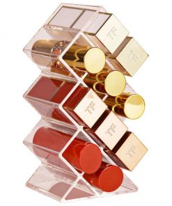 10 ou 28 rangenements rouges à lèvres transparents